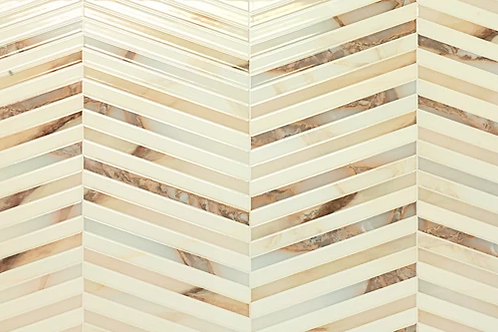 "Gold Marble Chevron 12"" x 36"" - Newbery Series"