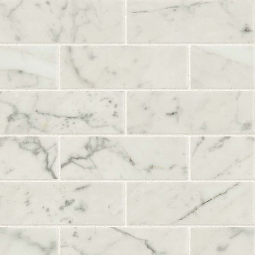 "Bianco Carrara 2""x 6"" - Classic 2.0 Collection"
