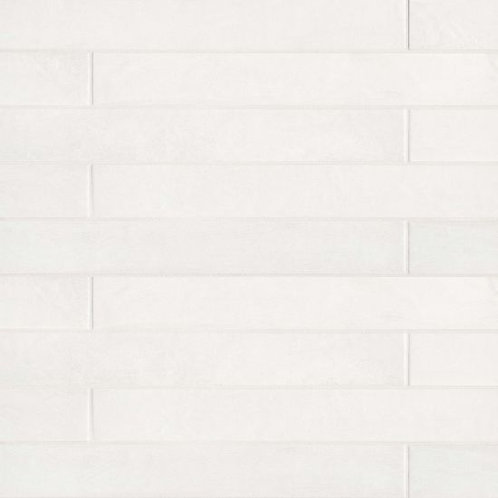 """Solid White 3""""x 24"""" - Allora Collection"""