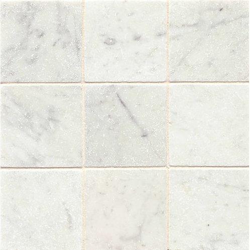 """White Carrara  4""""x 4"""" - White Carrara Collection"""