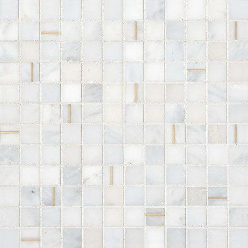 "Bianco 1""x 1""- Ferrara  Collectio"