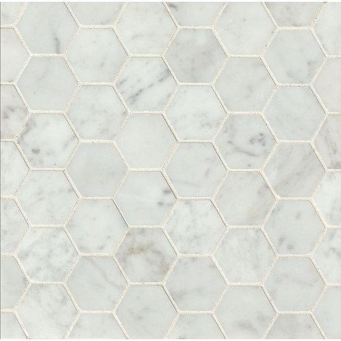 """White Carrara 2""""x 2"""" - White Carrara Collection"""