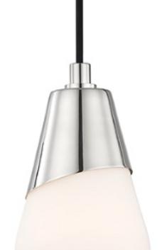 Cora Polished Nickel Mini-Pendant Light Mitzi by Hudson Valley