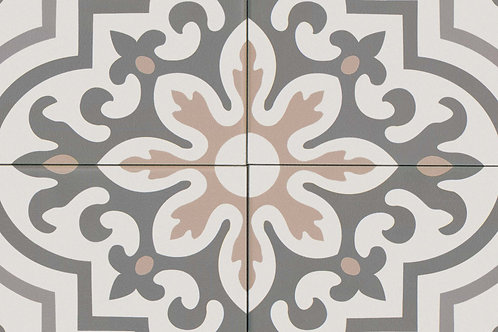 """Taupe Blue Gray St Gray White 8""""x 8"""" - Tuscany Collection"""