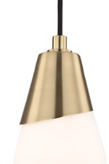 Cora Aged Brass Mini-Pendant Light Mitzi by Hudson Valley