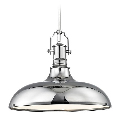 Pendant Light with Chrome Shade