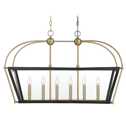 Savoy House Lighting Dunbar English Bronze & Warm Brass Light