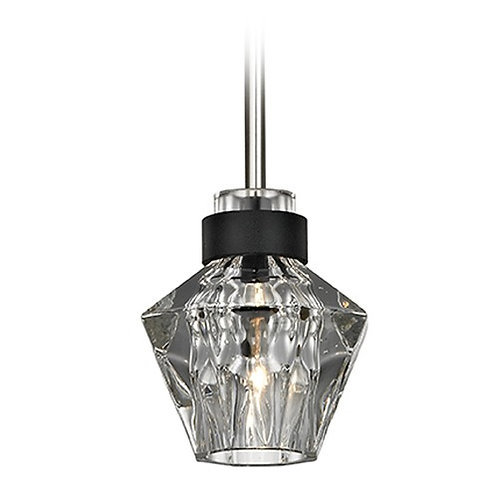Troy Lighting Faction Forged Iron / Nickel Pendant Light with Abstract Shade