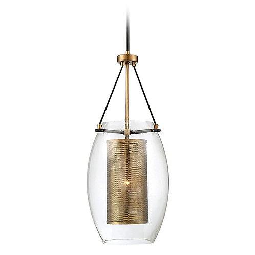 Savoy House Lighting Dunbar Warm Brass / Bronze Pendant Light with Oblong Shade