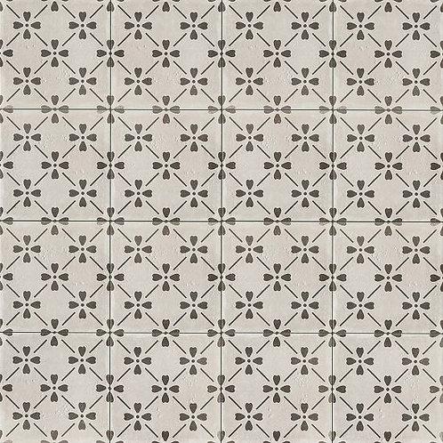"Castle Graphite Bloom 12""x 12"" - Palazzo Collection"