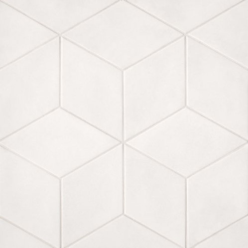 """Solid White 7.38""""x 12.75"""" - Allora Collection"""