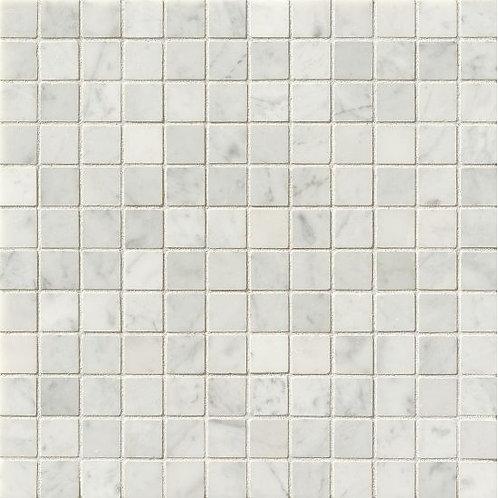 """White Carrara 1""""x 1"""" - White Carrara Collection"""