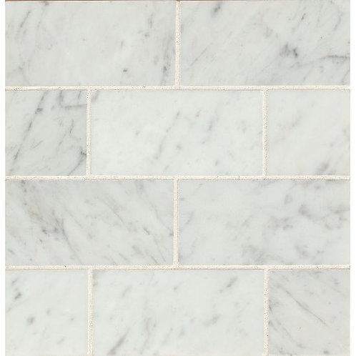 """White Carrara  3""""x 6"""" - White Carrara Collection"""