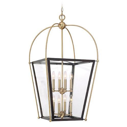 Savoy House Lighting Dunbar English Bronze & Warm Brass Pendant Light