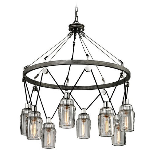 Troy Lighting Citizen Graphite / Polished Nickel Pendant Light