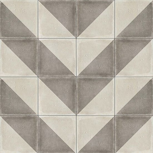 "Vintage Grey Villa 12""x 12"" - Palazzo Collection"