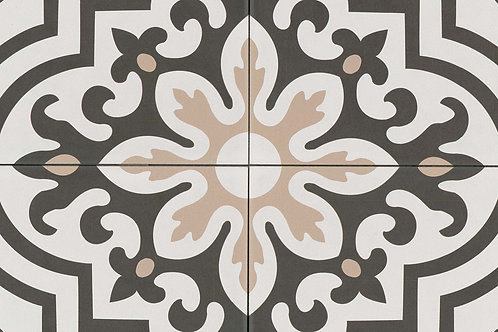 """Taupe Black and White 8"""" x 8"""" - Tuscany Collection"""