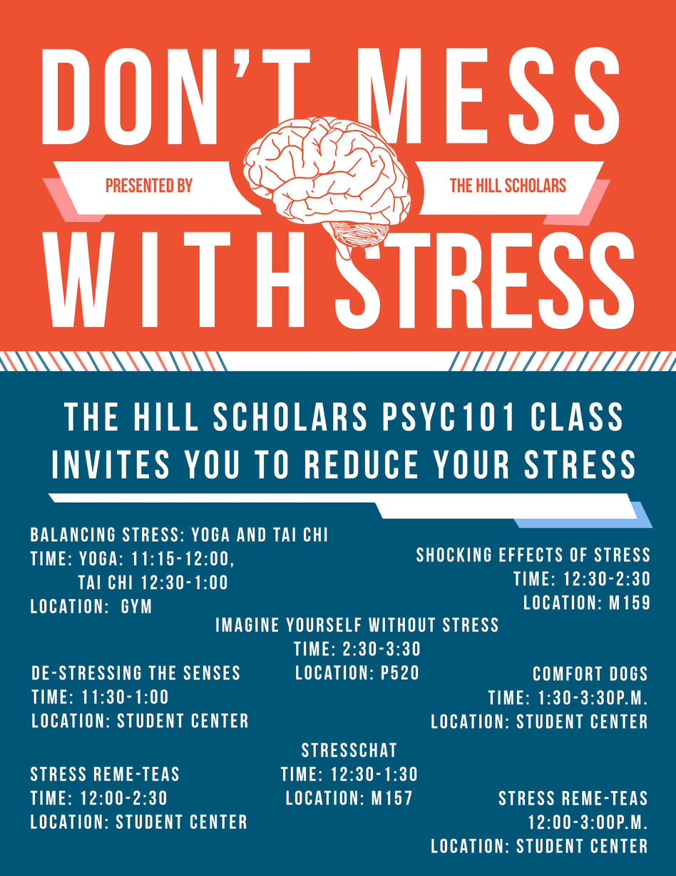 Don't Mess with Stress: Psych Day Flyer