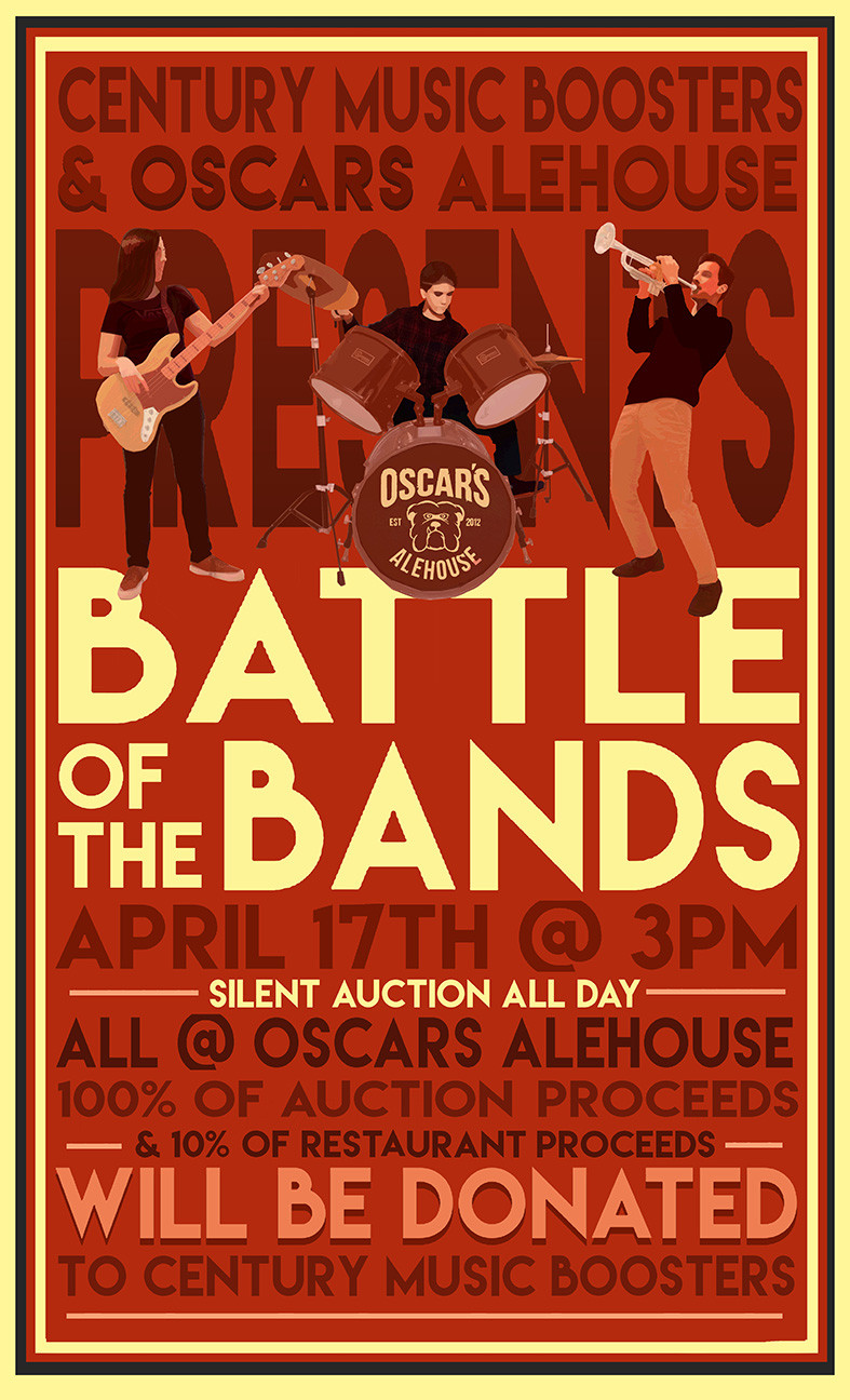 Century High School Battle Of The Bands Poster