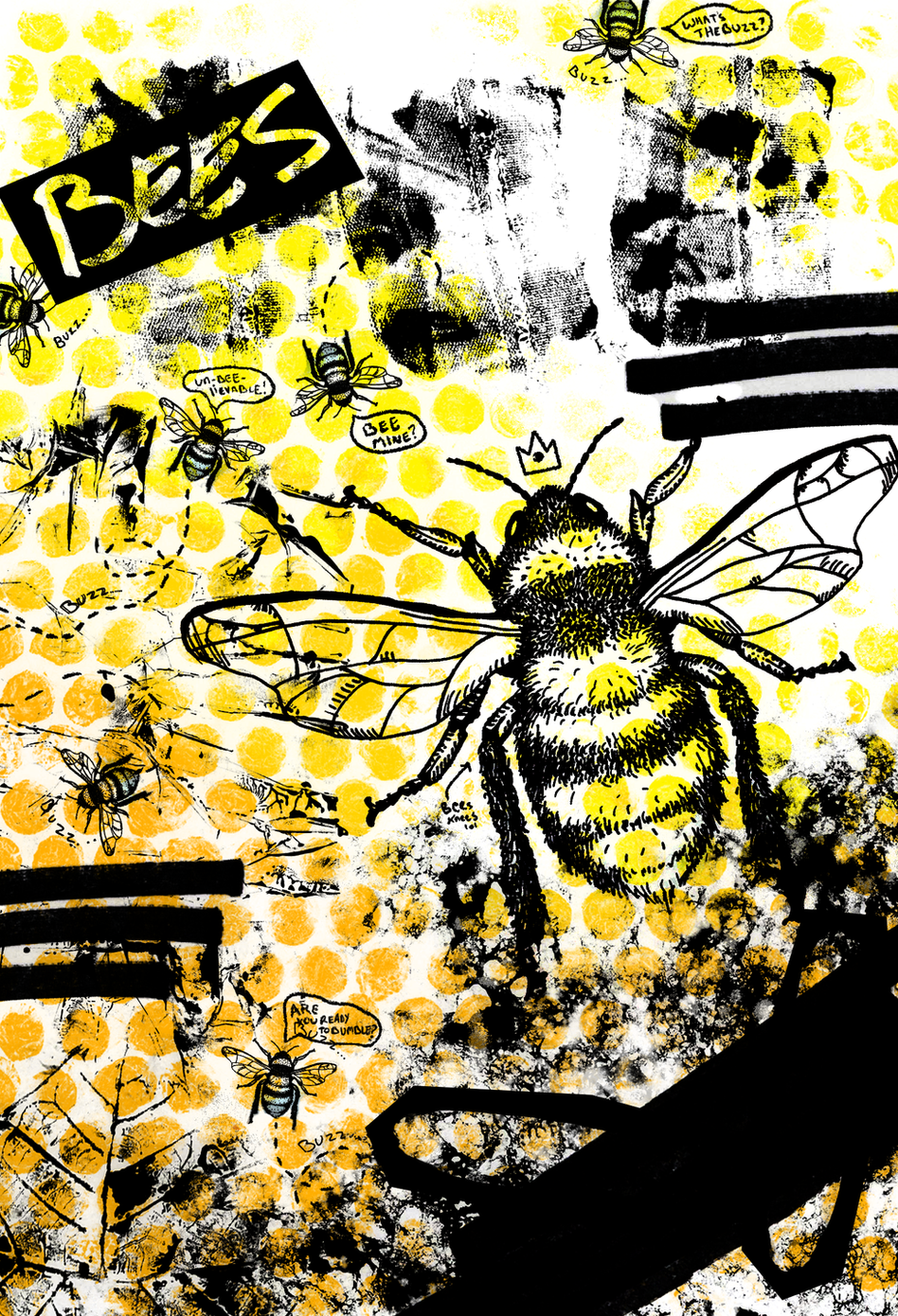 Bees? A Study in Textures and Bee Puns