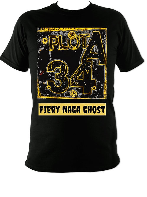 (M)Firey naga ghost tshirt (2 sided)