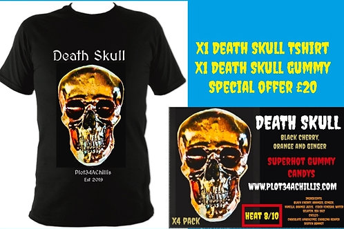Death Skull Tshirt and Death Skull gummy  pack