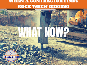 What Happens if a Contractor Finds Rock When Digging