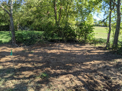 Picture of area that was combed through to ensure no debris was left behind after demolition.