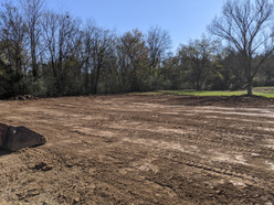 Smoothed out and graded area ready for grass seed.