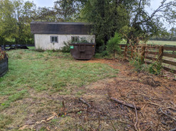 Before picture of old shed that needed to be removed.