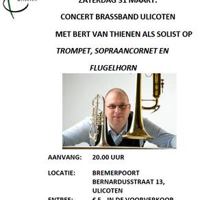 Aankondiging: Bert van Thienen als solist bij Brassband Ulicoten