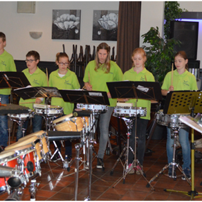 Drumband op Uitwisselingsconcert in Spoordonk