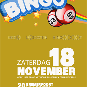Aankondiging: Bingoavond