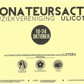 10-24 Oktober... Donateursactie Muziekvereniging Ulicoten