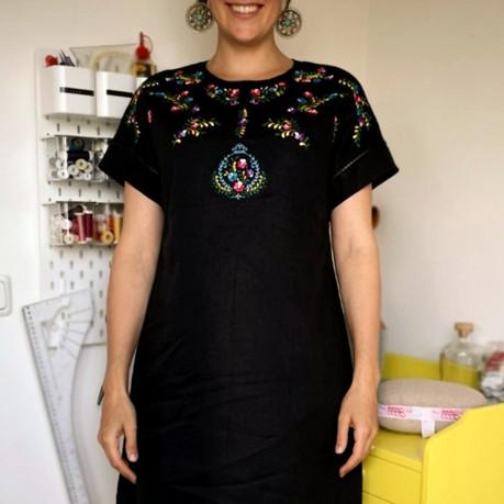 Florence jurk met borduurwerk