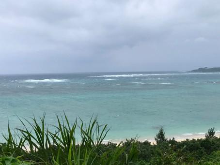 台風接近で海中止