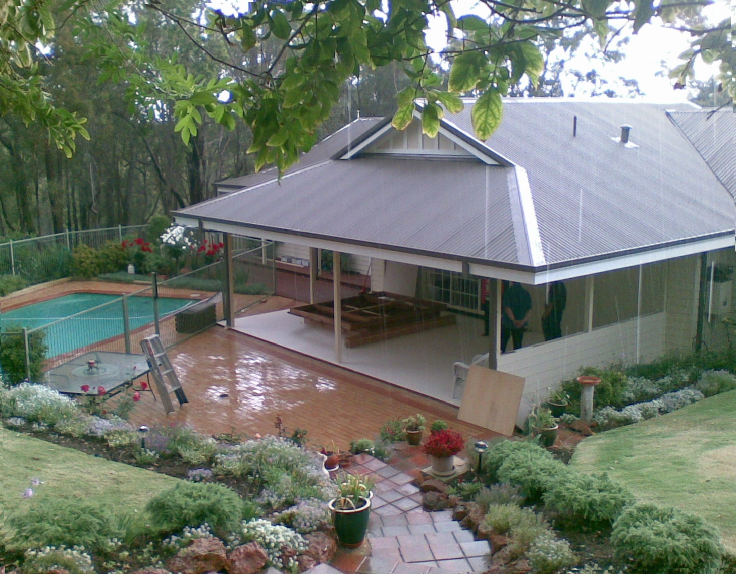 3 side alfresco enclosure BEFORE