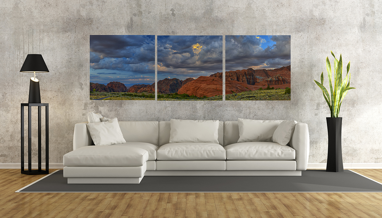 Snow Canyon triptych