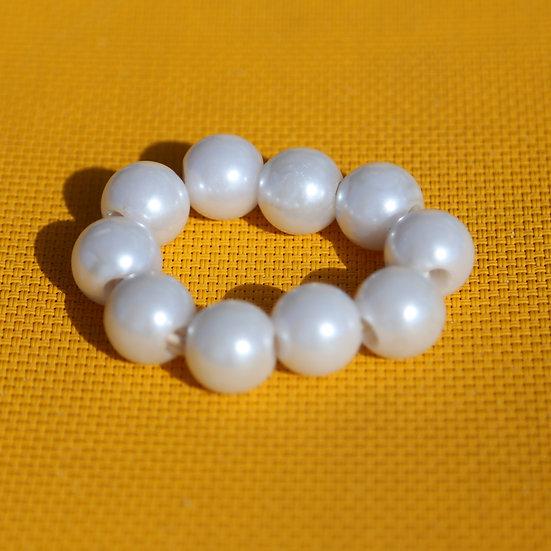 Elastique aux perles nacrées
