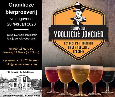 Bierproeverij Vrolijcke Joncker - 2020