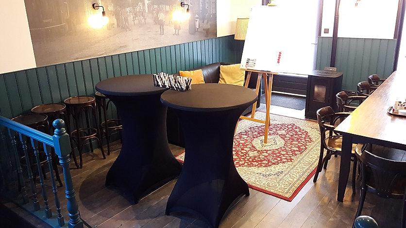 Staand vergaderen 'Bij Jacques | De Drie Pilaren', Heerenveen, Oudeschoot, Friesland