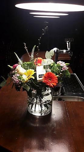 Mooi toch. Loop je De Drie Pilaren in en bots je tegen de bloemen.