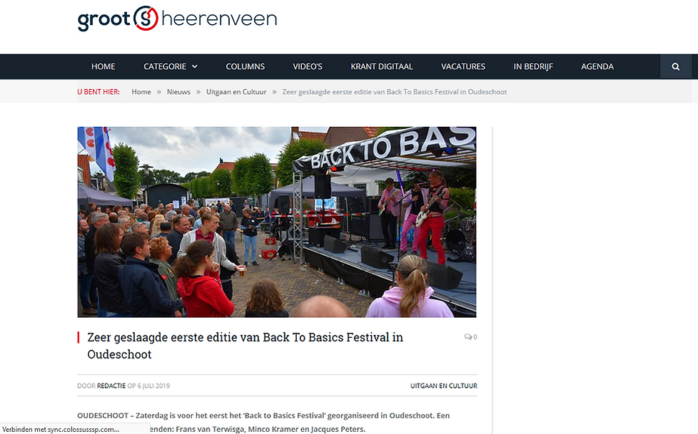 Grootheerenveen.nl - artikel over B2B Fe