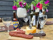 Bier, wijn, kaas en worst