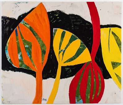 Tirra Lirra tapestry by Gillian Ayres