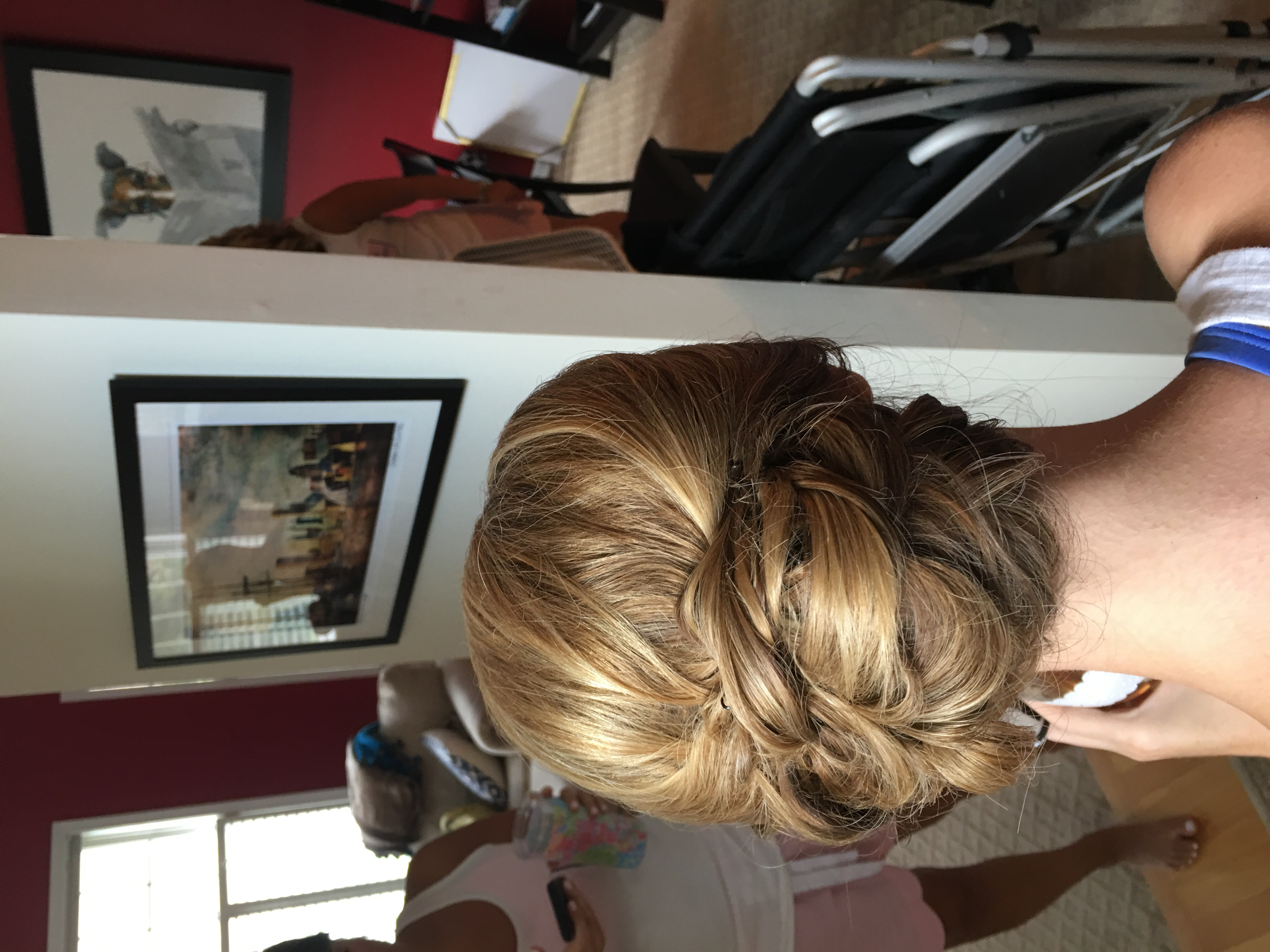 Bride's wedding up-do