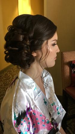 Bride's wedding up-do