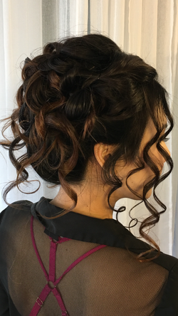Bride's curly wedding up-do
