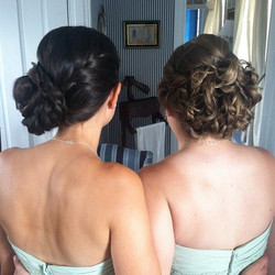 Bridesmaid up-do