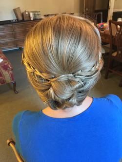 Bride's braided wedding up-do